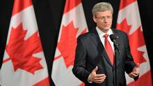 Prime Minister Stephen Harper holds a news conference in Paris on June 7, 2012. (Sean Kilpatrick/The Canadian Press)