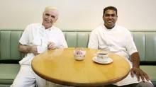 Horst Fabian and Gnanabaskaran Narayanapillai. (Charla Jones/The Globe and Mail)