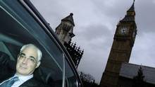 Britain's Chancellor of the Exchequer, Alistair Darling, leaves Parliament after giving his pre-budget report (LUKE MACGREGOR)