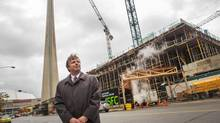 John Arnoldi, executive managing director at Colliers International, Toronto region, at site of a new tower on Bremner Blvd. (JENNIFER ROBERTS FOR THE GLOBE AND MAIL)