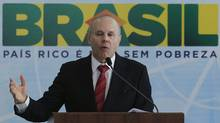 Brazil's Finance Minister Guido Mantega said the government will cut payroll taxes in efforts to spur hiring in sectors ranging from textiles and plastics to the automotive industry. (Ueslei Marcelino/Reuters/Ueslei Marcelino/Reuters)