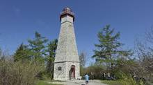 Gibraltar Point Lighthouse, one of Toronto's oldest landmarks, has been standing guard at the west side of the harbour since the early 1800s. (J.P. MOCZULSKI/The Globe and Mail)