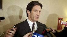 NHL vice president of hockey and business development Brendan Shanahan speaks to reporters during the NHL General Managers' annual fall meeting in Toronto, Ont. Tuesday, November 9, 2010. (Darren Calabrese/THE CANADIAN PRESS)