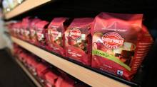 Starbucks' ground coffee product, Seattle's Best Coffee, is seen on display at the company's corporate headquarters in Seattle. (ANTHONY BOLANTE/REUTERS/ANTHONY BOLANTE/REUTERS)