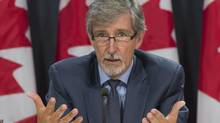 Privacy commissioner Daniel Therrien responds to a question during a press conference after tabling his latest annual report, Tuesday September 27, 2016 in Ottawa. THE CANADIAN PRESS/Adrian Wyld (Adrian Wyld/THE CANADIAN PRESS)