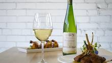 2010 Vin D'Alsace Gewurztraminer wine with dishes at Pukka in Toronto. (Kevin Van Paassen For The Globe and Mail)