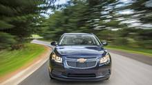 2014 Chevrolet Cruze Clean Turbo Diesel: GM says the Chevy Cruze can go 1,155 kms on a tank of diesel. (General Motors)