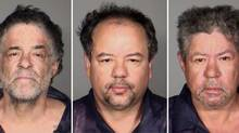 This undated combination photo released by the Cleveland Police Department shows from left, Onil Castro, Ariel Castro, and Pedro Casto.The three brothers were arrested Tuesday, May 7, 2013, after three women who disappeared in Cleveland a decade ago were found safe Monday. The brothers are accused of holding the victims against their will. (Cleveland Police Department/AP)