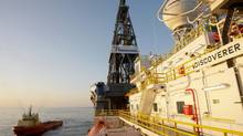The ultra-deepwater drillship Discoverer Inspiration in the Gulf of Mexico. Chevron said Monday it struck oil at a deepwater well in the Gulf just 19 kilometres (12 nautical miles) from another discovery announced last week by Anadarko and ConocoPhillips. (Melissa Phillip/The Associated Press)