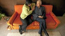 Charlayne Thornton-Joe and her 90-year-old father Jon Joe chat at his home in Victoria (Arnold Lim for The Globe and Mial/Arnold Lim for The Globe and Mial)