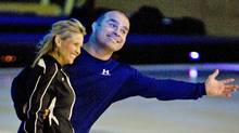 Tie Domi and Christine Hough-Sweeney work on their moves for CBC-TV's Battle of the Blades. (Frank Gunn)
