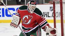 Martin Brodeur and the New Jersey Devils face the New York Rangers on Monday night. (AP Photo/Mel Evans) (Mel Evans/AP)
