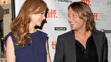 Nicole Kidman with her husband, musician Keith Urban, at TIFF this week. (Jason Merritt/Getty Images)