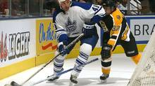 Jason Allison in action for the Toronto Maple Leafs back in the 2005-06 season. (Dave Sandford/2005 Getty Images)