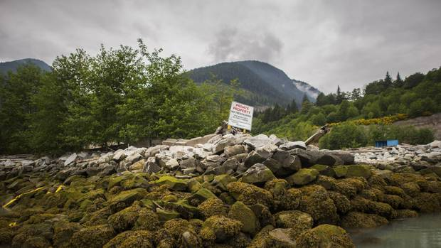 The proposed site of the Woodfibre LNG project near Squamish, B.C.
