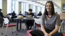 Eliza Bateman, a PhD candidate at McGill University, is leading team of researchers looking at PhD career outcomes. (Christinne Muschi For the Globe and mail)