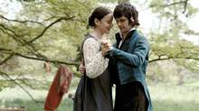 A scene from Bright Star shows Abbie Cornish and Ben Whishaw as John Keats. The romantic poet, wrote the love poem 'Bright Star' for his 18 year-old next door neighbour Fanny Brawne. This is the story of their first love.