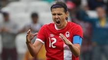 Christine Sinclair will lead a young Canadian national women's soccer team at the Algarve Cup in Portugal. (PAULO WHITAKER/REUTERS)