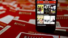 The Netflix Inc. application is displayed on an Apple Inc. iPhone in January, 2014. (Andrew Harrer/Bloomberg)