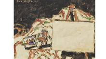 Canadian David Milne's Paint Box, Easel and Canvas (1933)