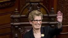Premier Kathleen Wynne is seen during a swearing in ceremony at Queen's Park in Toronto, Ont.. Monday, February 11, 2013. (Kevin Van Paassen/The Globe and Mail)