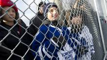 Fans take in the action as the Toronto Maple Leafs held an outdoor practice at Sunnydale Acres Rink in Toronto last January. (Kevin Van Paassen/The Globe and Mail)