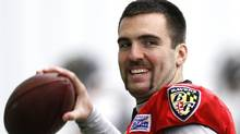 Baltimore Ravens quarterback Joe Flacco has sparked controversy since declaring in a radio broadcast he was the league's top pivot. AP FILE PHOTO/Patrick Semansky (Patrick Semansky/AP)