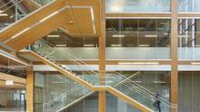UBC's Earth Sciences Building, winner of a 2013 B.C. Wood Design Award, was designed by the Vancouver office of Perkins + Will to reduce the carbon footprint of the energy-intensive, lab-focused building. (Martin Tessler)