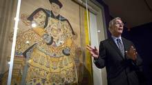 UBC's Timothy Brook discusses Emperor Qianlong the 4th emperor of the Qing Dynasty during a preview of The Forbidden City (John Lehmann/The Globe and Mail)