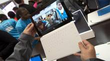 Microsoft's design team put thought into how the Surface user interface flows. (Keith Bedford/REUTERS)