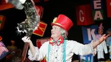 Russian clown Yuri Kuklachev's troupe of felines in the Moscow Cats Theatre can do handstands and balance on balls: proof that you can actually train a cat.