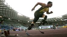 South Africa's Oscar Pistorius competes in the men's 400 metres during the Golden Gala IAAF Golden League at the Olympic stadium in Rome July 13, 2007. (© Alessandro Bianchi / Reuters/Reuters)
