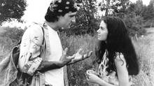 Elias Koteas (Eric) and Mia Kirshner (Christina) star in 1994's Exotica, directed by Atom Egoyan.