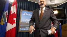 Alberta Minister of Finance Doug Horner says taxpayers should not be on the hook for $7.4-billion of unfunded liabilities. (JASON FRANSON/THE CANADIAN PRESS)