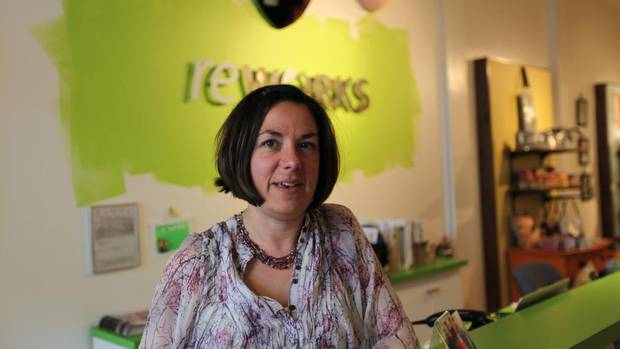Solita Work, owner of ReWorks Upcyle Shop, located in Calgary's Inglewood neighbourhood