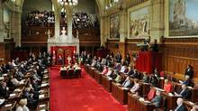 Governor-General David Johnston delivers the Speech from the Throne in the Senate on June 3, 2011. (Sean Kilpatrick/THE CANADIAN PRESS)