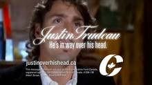 The Conservative Partys's attack ads show Justin Trudeau in a mock striptease and cast aspersions on his readiness to lead.