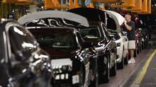 Economists say declining auto production will likely push down manufacturing growth for the month of October. (Moe Doiron/The Globe and Mail)