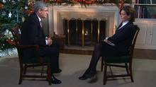 CTV News Chief Anchor and Senior News Editor Lisa LaFlamme is shown during an exclusive interview with Prime Minister Stephen Harper. (CTV)