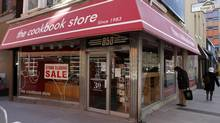 Front view of the Cookbook Store on Yonge St. The shop is closing its doors after 30 years, Toronto, Feb. 26, 2014. (Fernando Morales/The Globe and Mail)