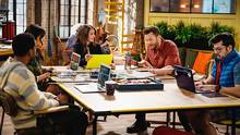 In CBS's new sitcom The Great Indoors, Joel McHale's character finds himself in charge of an online magazine's team of millennials.