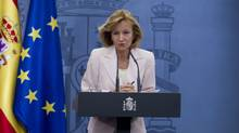 Spain's Economy Minister Elena Salgado expects more countries will ban short selling. AP Photo/Paul White (Paul White/AP)