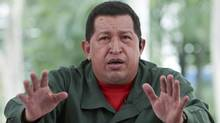 Venezuela's President Hugo Chavez speaks during his weekly broadcast 'Alo Presidente' in Maracay Dec. 6, 2009 (HO)