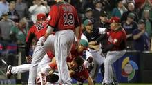 Canada and Mexico brawl at the World Baseball Classic (Matt York/AP)