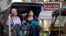 """Judi Dench (left) and Celia Imrie in a scene from """"The Best Exotic Marigold Hotel"""" (Ishika Mohan)"""