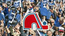 Hordes of hoceky fans gather on on the Plains of Abraham in Quebec calling for the return of an NHL franchise and a new arena to the provincial capital on Oct. 2, 2010. (Jacques Boissinot/The Canadian Press)
