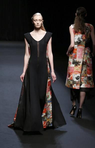A model wears a creation by Japanese designer Sara Arai at Tokyo Fashion Week (Shizuo Kambayashi/AP)