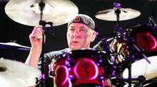 Drummer Neil Peart of the Canadian progressive rock band Rush performs before a sold out Tweeter Center in Mansfield, Mass., on June 27, 2007. (Robert E Klein/AP2007)