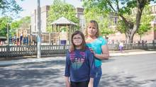 Harley Campos, 11, with her mother Jill Trahan-Hardy (Jennifer Roberts For The Globe and Mail)