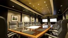 A stock photo of a corporate boardroom. (Arpad Benedek/iStockphoto)